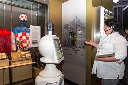 Robot v Národním muzeu v Canbeře.